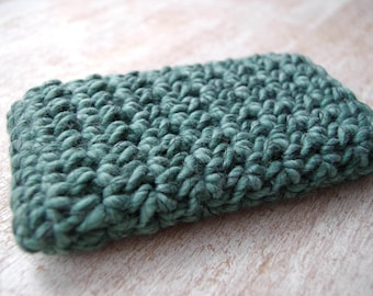 hand knit cell phone iphone smartphone slip case knitted universal  4 various patterns
