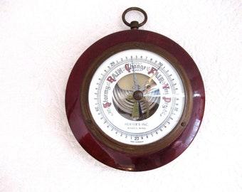 Vintage Barometer West Germany Herter's Inc Waseca MINN
