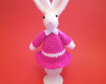 Easter Bunny Egg Cosy Hand crocheted.