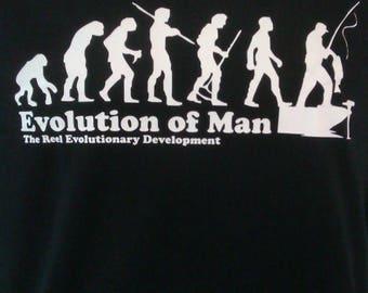 Evolution of man, fishing