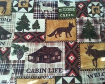 Log Cabin Fleece Throw