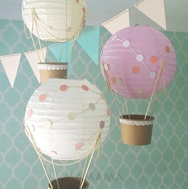 Whimsical hot air balloon decoration diy kit nursery decor for Balloon decoration kits