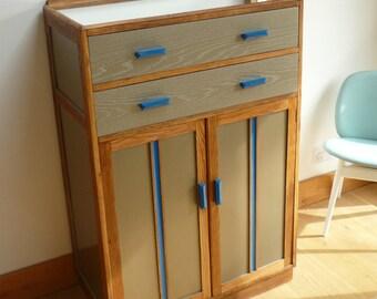 Stunning Oak Tallboy 50's era - Two drawers over cupboard