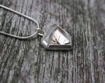Terminated Rutilated Quartz Sterling Silver Pendant
