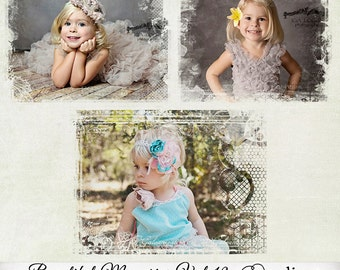 Beautiful Memories Vol.19 Photo Masks - Digital Scrapbook Overlays - Personal and Commercial Use, D033 - Instant Download