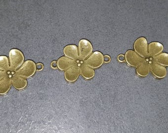 6 charms antiqued bronze 19 x 17 mm, jewelry flowers
