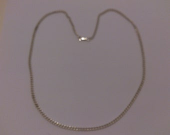 vintage sterling silver curb chain necklace