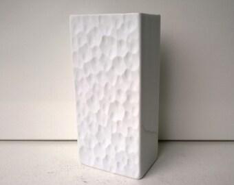 Thomas Germany, Op Art Vase, Bisque Porcelain Vase, West German Pottery, 1970s