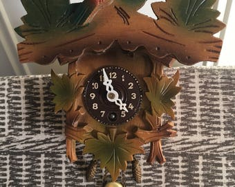 Novelty cuckoo clock made in West Germany.