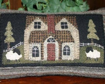 Wool Kit and Pattern  - Little  Farmhouse Pillow