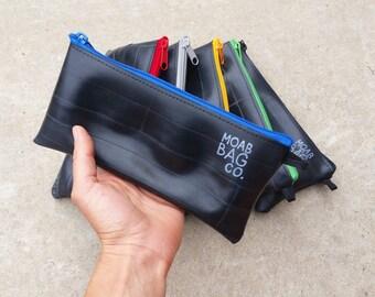 Bike Tool Bag - Recycled Bike Tubes - Large Zipper Pouch - Small Bike Gift For Him