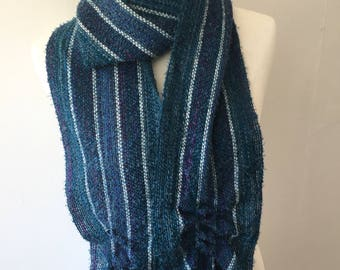 Blue #5 Handwoven Scarf
