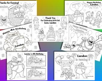 Captain Underpants Birthday Party favor, Captain Underpants coloring pages, PDF file