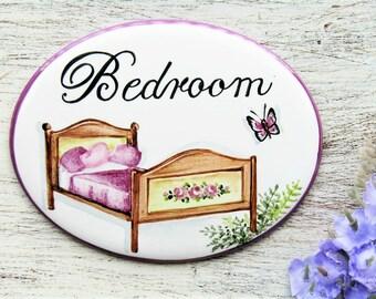 Custom Bedroom Door Sign, Bedroom Door Plaque, Guest Room Sign, Bedroom Door Signs, Bed Breakfast Sign, Personalised Sign, Hotel Room Sign