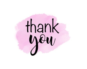 """Thank You 2"""" Gift Tag - Pink"""