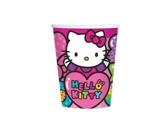 Sanrio Hello Kitty Paper Cups - 9oz, Tableware, Party Supplies