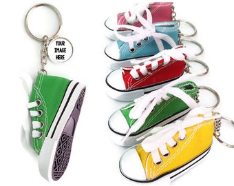 Custom Mini Canvas Shoes Keychains