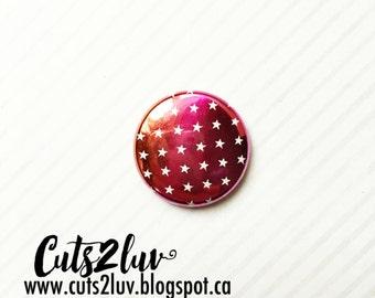 """Badge 1 """"metal shadow stars summer *."""