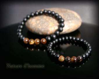 Bracelets father & son duo Ref Tiger eye and onyx: BN-401