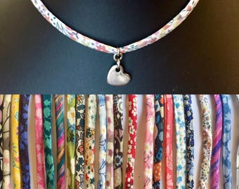 Liberty fabric choker necklace.