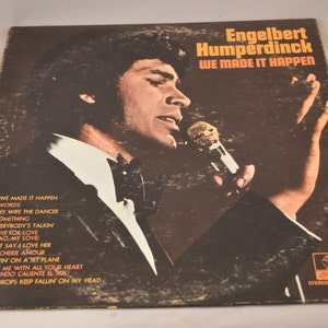 Vintage Record Engelbert Humperdinck: We Made It Happen Album XPAS-71038