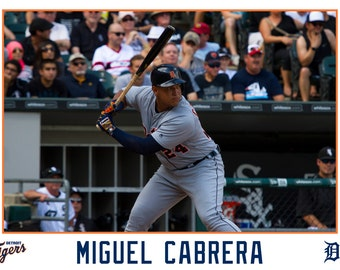 Miguel Cabrera Detroit Tigers Canvas Wrap