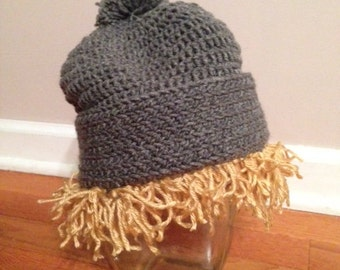 Crocheted Kristoff from Frozen hat - Choose your size