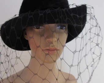 AMAZING Mitzi Lorenz Vintage Hat - Furry With Net - Love!!