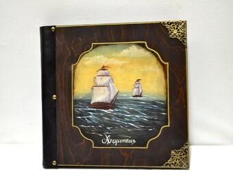 Navy decor, nautical ship, nautical theme, sail boats, navy theme, victorian ship, nautical stationery, photograph album, old ship art