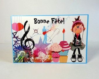 French birthday greating card