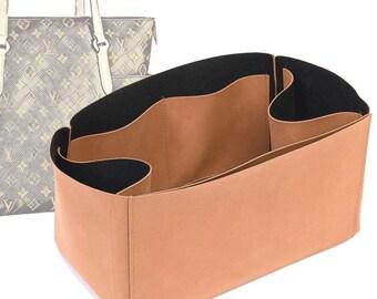 Regular Style Nubuck Leather Handbag Organizer for LV Totally Bags