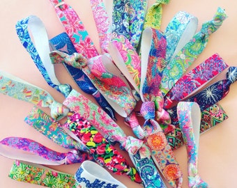 Lilly Pulitzer inspired ties and bands