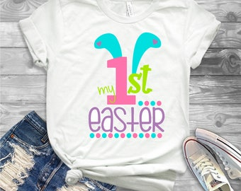 "Easter Iron On Transfer, Easter Tshirts, Kids"" Ready to Press Iron On Transfer , Kids Iron On Easter Transfer, Ready to press Easter Desgins"