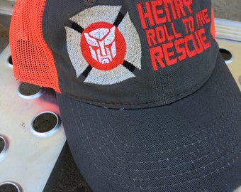 Personalized Rescue Bots hat, tracker cap, youth, Roll to the Rescue