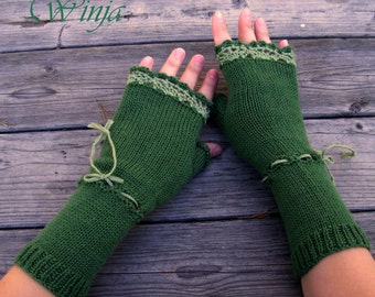 Knitted fingerless gloves, arm warmers, autumn fingerless gloves, boho gloves, knitted mittens, crochet fingerless gloves, crochet mittens