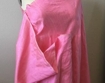 "Bubblegum Pink !00% Silk Dupioni Fabric 44"" wide"