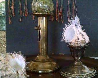 Antique Brass Adjustable Candlestick Candle Holder Pedestal