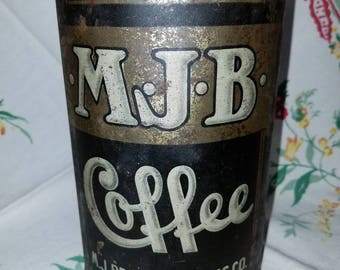 Antique MJB Coffee Tin 2.5 Pounds Why? Panama- Pacific Exposition San Francisco