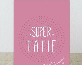 """Postal """"Super tía"""" le deseo un feliz cumpleaños"""