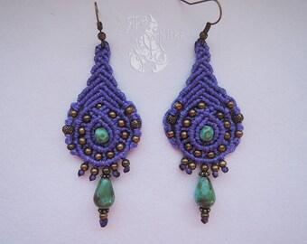 Boho earrings Gift for her Statement earrings Gift birthday Macrame earrings Christmas Gift Gypsy earrings Gift for women Hippie earrings
