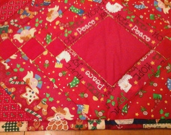Christmas  table runner reds