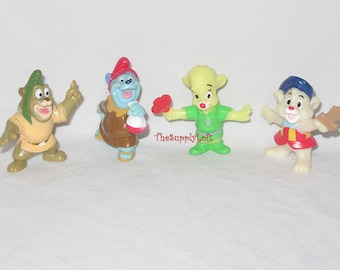 Vintage Disney Gummi Bears Gruffi Tummi Sunni Cubbi Figures Promotional Mail In Collectible Gift from TheSupplyLoft1