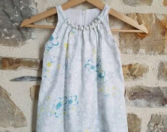 Summer 4t sleeveless floral dress
