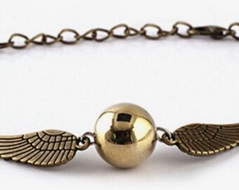 Harry Potter Golden Snitch Quidditch Bracelet - Gold and Bronze