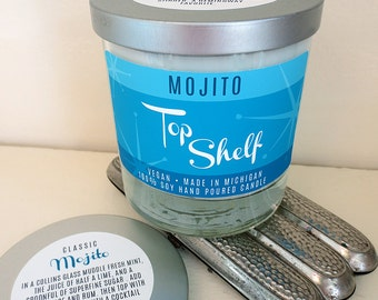 Mojito Soy Candle - Top Shelf Collection - Low Ball Tumbler
