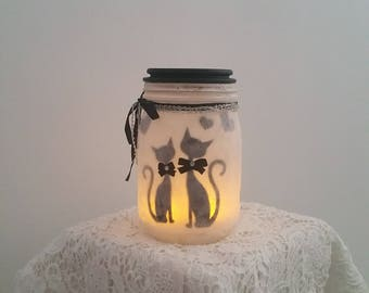 """""""Cats in love"""" candle Lantern"""