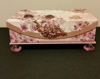 Pink Flower Jewerly Box