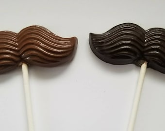 Chocolate Mustache Prop Favors