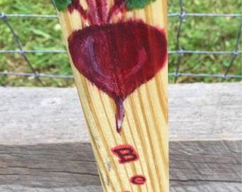 Beets Garden Marker,  Garden stake,