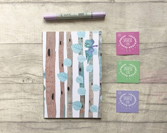 Fairy notebook, forest notebook, woodland stationery, planner accessories, stationary, cute stationary, notepad, fairy gift, mythical creatu